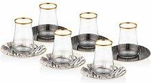 150 ml 6-tlg. Tee-/Kaffeeglas-Set Ayan