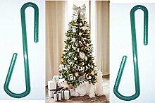 150Ornament Kleiderbügel Haken Weihnachtsbaum Dekoration Zum Aufhängen S Form Kunststoff Grün Weihnachtskugeln Mehrzweck-Classic