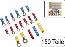 150 teiliges Sortiment Kabelschuhe und Stoßverbinder