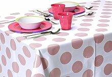 150x 220cm PEVA Polka Dot Tischdecke Pink Tablecloth