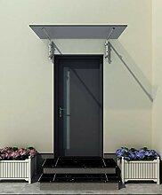 150 x 90 cm Glasvordach Grauglas Vordach