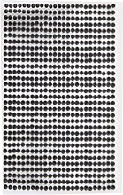 1500 Strasssteine selbstklebend Glitzersteine zum Aufkleben runde Glitzer Aufkleber 3mm groß Kristalle Dekosteine in schwarz