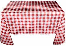 150cm*230 cm Tischdecke in Kariert Muster Tischtuch Garten Tischdecken Karo Tischwäsche Weihnachten Gartentischdecke Tischtuch