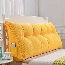 150cm Dreieck-Kissen-Matten-Kissen-doppeltes Bett-weiches Beutel-Bett-Kissen-Bett-Rückseiten-entfernbares ( Farbe : # 8 )