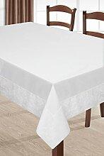 150x240 beige Tischdecke Tischtuch Leinoptik ornamente Form pflegeleicht praktisch elegant exklusiv Eva Minge Home- Kollektion Garden