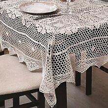 150x350 Oval creme Häkeltischdecke Tischdecke mit feinstem Häkel-Muster wunderbar elegant 100% Baumwolle Landhaus modern folk Denis