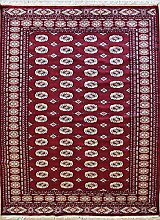 152x244 Pak Bokhara Design Area Rug with Wool Pile