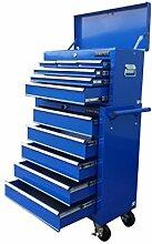153US Pro Werkzeuge blau Günstiger Werkzeugkasten, rollender Werkzeugschrank, rollender Werkzeugkasten
