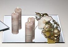 15er Set Spiegelplatte, Dekospiegel, Tischspiegel, 25x25cm, Glas (83,50 EUR / Stück)
