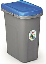 15L Mülleimer blau Deckel Recycling Mülltrennung