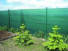 15m² Zaunblende 85% in 1,5m Br. x 10m mit Knopflochleisten Sichtschutzgewebe Schattiernetz Sonnenschutz Schattierungsgewebe