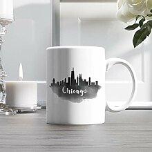 15oz Ceramic Coffee Mug, Chicago City Skyline