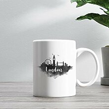15oz Ceramic Coffee Mug, London Skyline Coffee