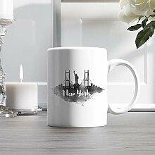 15oz Ceramic Coffee Mug, New York City Skyline