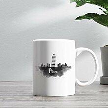 15oz Ceramic Coffee Mug, Pisa Skyline Coffee Mug,