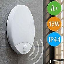 15W LED Aussenleuchte mit Bewegungsmelder IP44