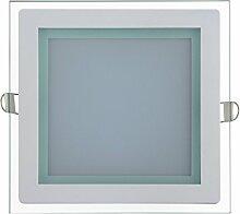 15w Slim Flach LED Panel mit Glas Rahmen