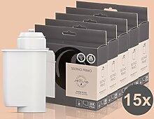 15x Filterpatrone Seltino PRIMO - Ersatzfilter für Brita Intenza 467873 TZ70003, für Espressovollautomaten Bosch, Neff, Siemens, Gaggenau... (5x 3er Pack!)