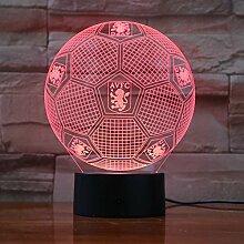15x16CM flache Kugel Aston Villa Fußball 3D Lampe