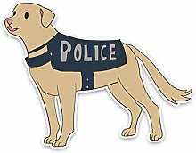 16.5CM * 12.7CM Cartoon Tier Polizei Hund Auto