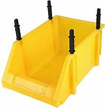 16cm Höhe Ersatzteile Schutzhülle aus Kunststoff Box stapelbar Mülleimer gelb
