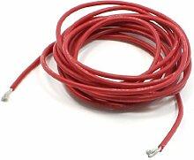 16 gauge koperen kern flexibele siliconen wire-Rode 3 meter lang
