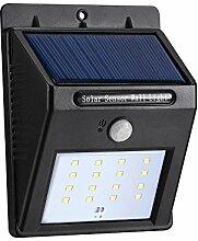 16 Helle LED Solarleuchte Drahtlose Wetterfeste Sicherheits Außenleuchte Bewegungs-Sensor