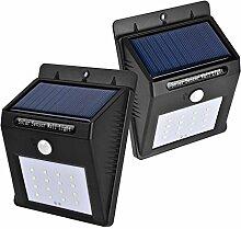 16 Helle LED Solarleuchte Drahtlose Wetterfeste Sicherheits Außenleuchte Bewegungs-Sensor 2 Stück