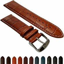 16mmladies echtes Leder Mock Croc Armbanduhr