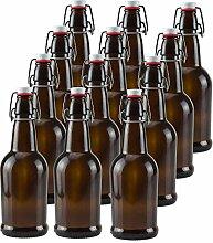 16Oz Bernstein Glas Bier Flaschen für Home