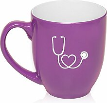 16Oz violett, groß Tasse Bistro Keramik Kaffee