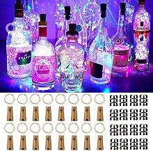 16 Stück Flaschen-Licht JRing 20 LEDs 2M