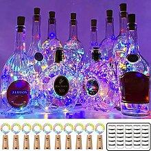 16 Stück Flaschenlicht LED Lichterketten, Wanxida