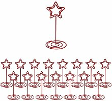 16 Stück Rote Sternförmige Tischkartenhalter