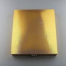16 stücke Edelstahl Besteck Geschirr Rot Gold