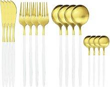 16 stücke Rose Gold Besteck Set Messer Gabel