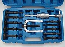 16-tlg Innenlager Grundloch Lager Abzieher Set Sackloch Auszieher Werkzeug mit Gleithammer Innenlagerabzieher-SET
