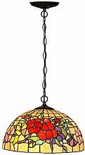16-Zoll-Kronleuchter handgemachte farbige Glas-Deckenleuchte Kronleuchter künstlerische Kreativität Wohnzimmer Küche Restaurant-Beleuchtung LED dekorative Decken