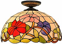 16-Zoll-Tiffany-Stil Deckenleuchte Glasmalerei