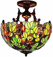 16-Zoll-Tiffany-Stil Deckenleuchte Hand gestaltete