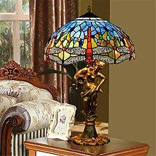 16-Zoll-Tiffany-Tischlampe Bunte Glasmalerei