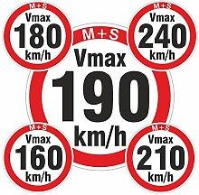 160-240 km/h 200 Stück gemischt