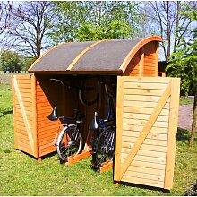 160 cm x 144 cm Fahrradgarage Siena aus Massivholz