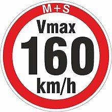 160 km/h 500 Stück Geschwindigkeitsaufkleber