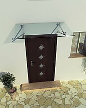 160 x 90 cm Glasvordach Vordach Türvordach