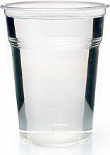1600 x Trinkbecher Eichstrich 0,5l Ausschankbecher klar Plastikbecher Bierbecher 500ml