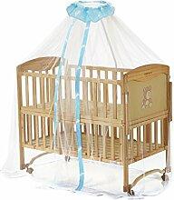 160x450cm Moskitonetz Mückennetz mit Cartoon Muster Insektenschutz Betthimmel Fliegennetz für Kinderbetten Baby Bett Sommer,Blau