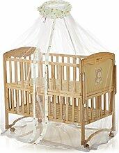 160x450cm Moskitonetz Mückennetz mit Cartoon Muster Insektenschutz Betthimmel Fliegennetz für Kinderbetten Baby Bett Sommer,Gelb