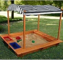 163,2 cm eckiger Sandkasten Outdoor KidKraft