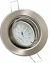 16er Set FLACHE Einbaurahmen Spot » LED